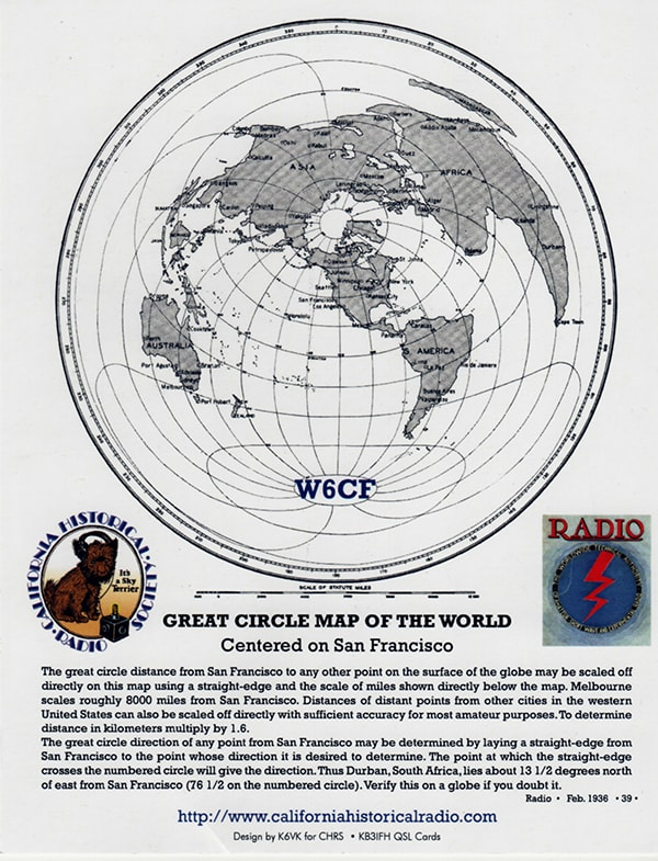 CHRS W6CF world map