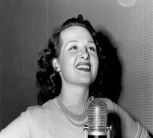 Singer Jo Stafford, unknown date