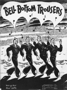 "Sheet music cover for ""Bell Bottom Trousers"" song"