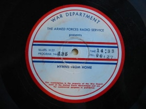 Disc label for Hymns from Home 135