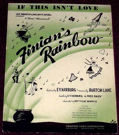"""vintage sheet music cover for """"If This Isn't Love"""""""