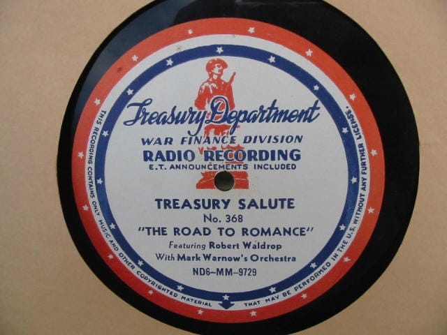 disc label, Treasury Salute 368