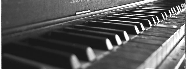 the keys of an old piano
