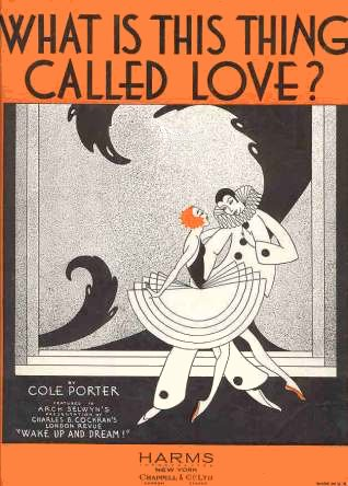 "vintage sheet music cover for ""What is This Thing Called Love?"""