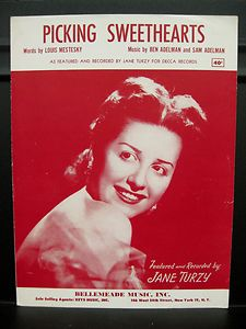 """Sheet music cover, """"Picking Sweethearts"""""""