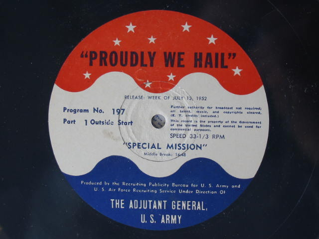 Label Proudly We Hail 197