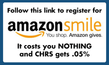 "image of the words ""Follow this link to register for 'Amazon smile"" (You shop. Amazon Gives.) It costs you NOTHING and CHRS gets .05%"""