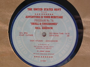 "Disc label for ""Adventure is Your Heritage 7a - Skull and Crossbones"""