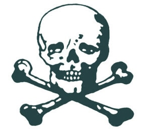 graphic of a skull and crossbones