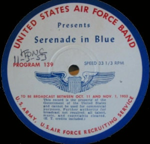 disc label for Serenade in Blue 139