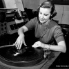 Photo of vintage disc jockey (circa 1950's)