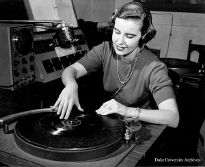 Photo of vintage disc jockey (circa 1950's)