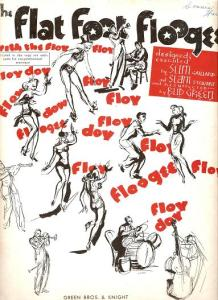 Vintage sheet music cover - Flat Foot Floogie with the Floy Floy