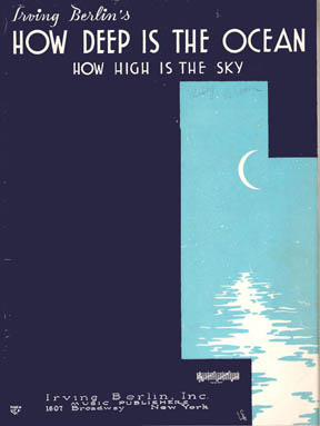 "Vintage sheet music cover of ""How Deep is the Ocean"""