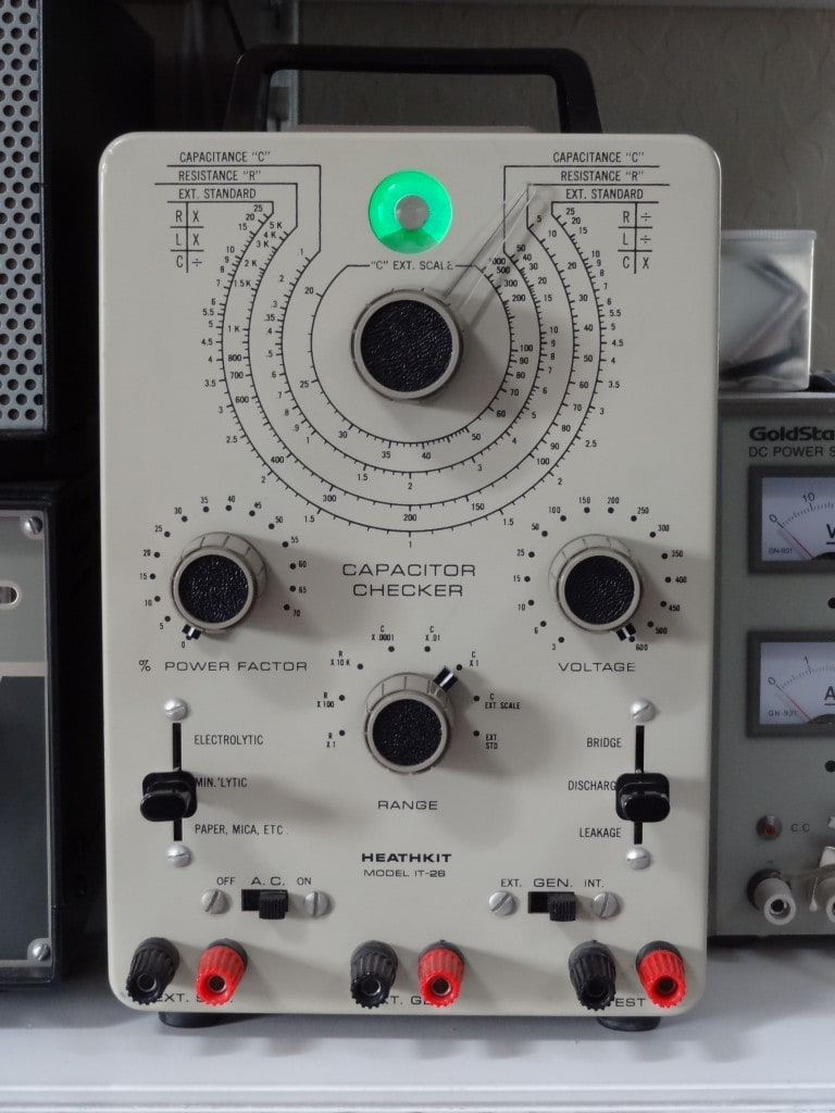Old Ge Test Instruments : Heathkit vintage capacitor checker