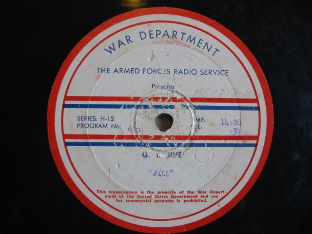 disc label, G.I. Jive 660