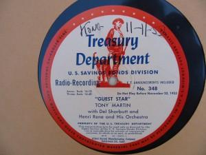 Label of Guest Star 348 transcription disc