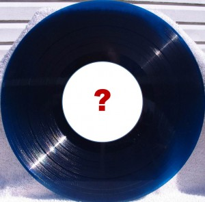 "16"" disc with question mark on the blank label"