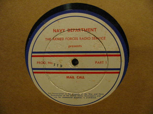 Disc label for Mail Call 119