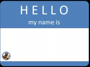 """""""Nametag sticker"""" graphic, with CHRS logo in the corner"""