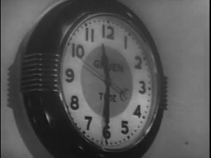 Video capture of clock in radio studio
