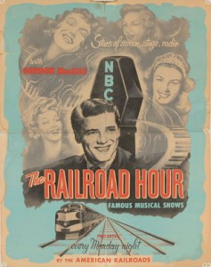 Advertisement of Railroad Hour radio show