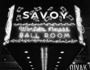 Vintage picture of Savoy ballroom marquee