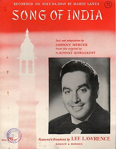 "Sheet music cover of ""Song of India"""